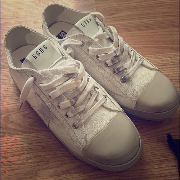 Golden Goose Shoes   Vstar2 All White W
